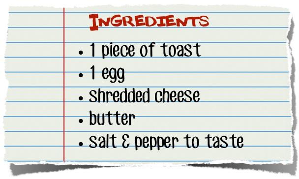 Cheesy Egg Toast Ingredients