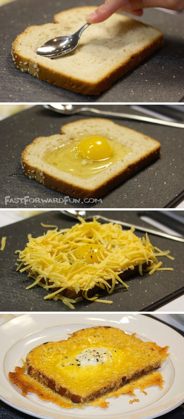 Cheesy Egg Toast (with a fun video tutorial) -- the easiest and most delish breakfast you will ever have! | Fast Forward Fun