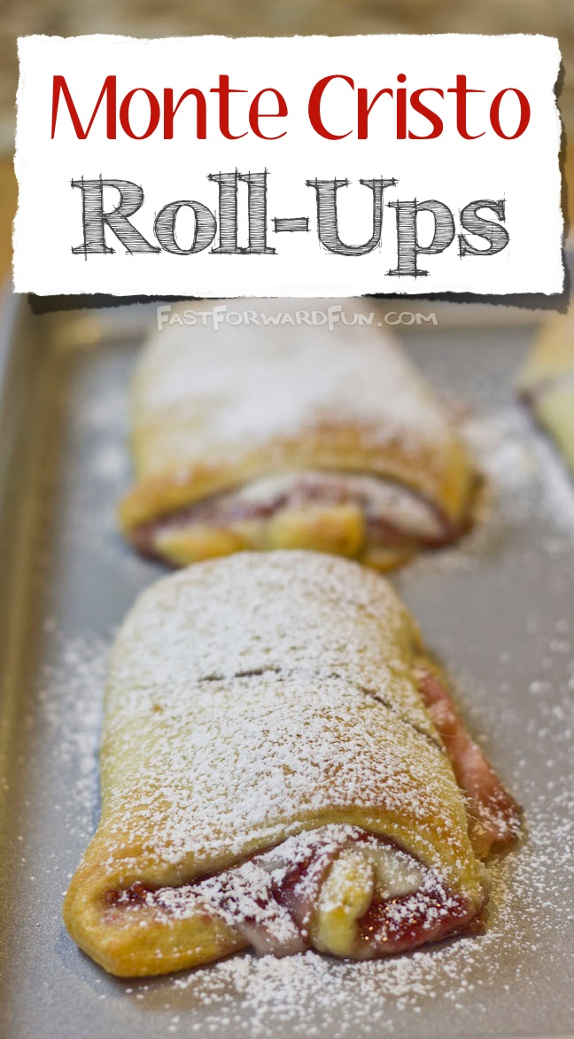 Easy Monte Cristo Roll-Up Recipe made with Pillsbury Crescent Rolls! (super fun video tutorial and step-by-step photos)