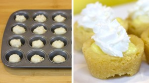 Mini Banana Cream Pie Cookie Cups