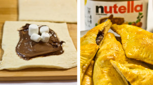 Easy Nutella Pastry Pockets