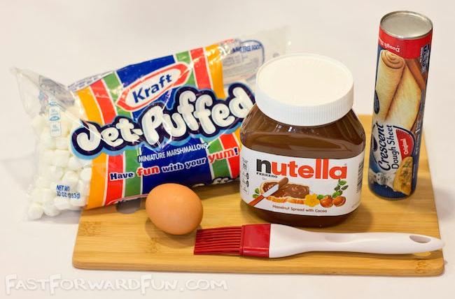 Nutella Pastry Pocket Ingredients