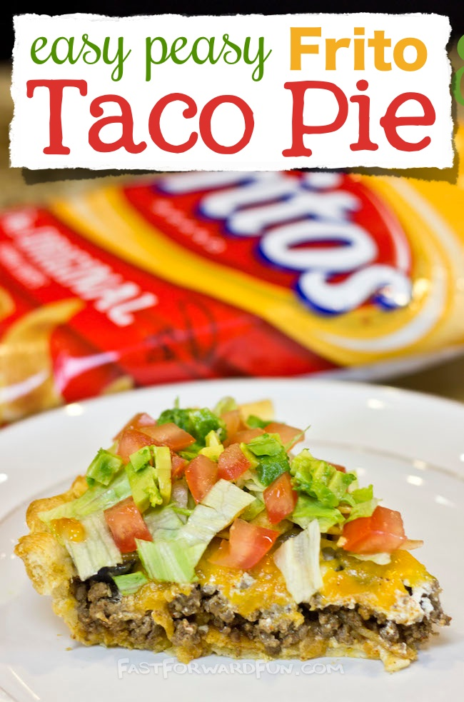 The Easiest And Tastiest Dinner Ever Easy Frito Taco Pie Super Fun Video